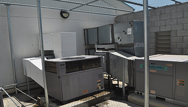 LEUSD HVAC Project - HVAC Units exposed to solar loading
