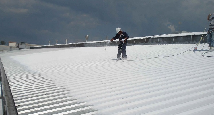 Spraying the roof top
